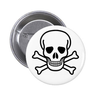 Skull and X Pinback Buttons