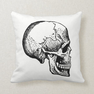 Skull Antique Inspired Halloween Cushion