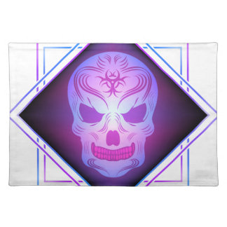 skull art placemat