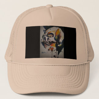Skull Art Truckers Hat