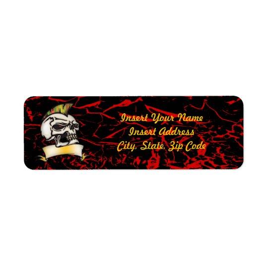 Skull Avery Label Return Address Label