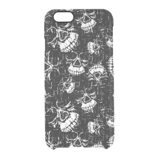 skull background clear iPhone 6/6S case
