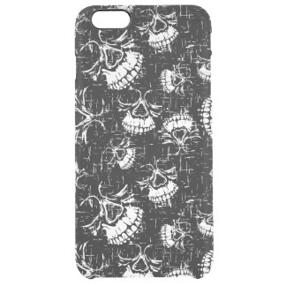skull background clear iPhone 6 plus case