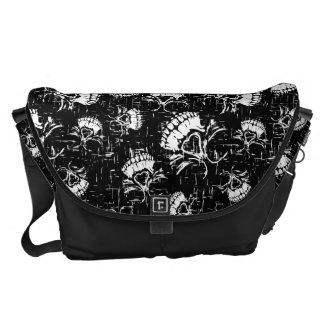 skull background courier bags