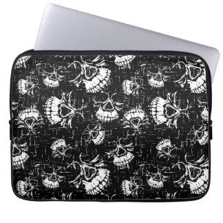 skull background laptop sleeve