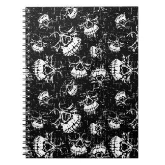 skull background notebook