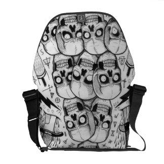 skull bag courier bag