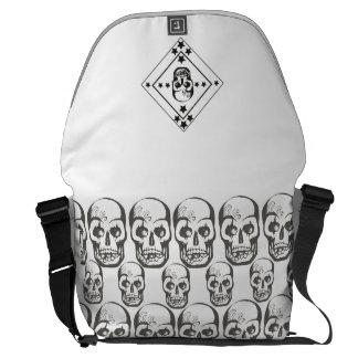 Skull bag messenger bag