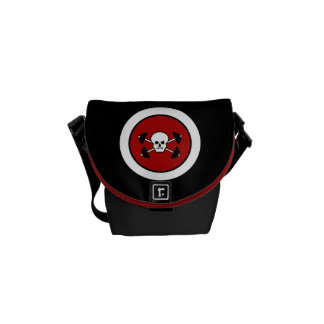 Skull & Barbell Messenger Bag