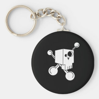Skull Basic Round Button Key Ring