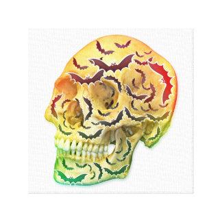Skull & Bats Canvas Print