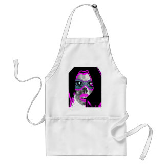 SKULL BEACH BABE GRAPHIC PRINT ADULT APRON