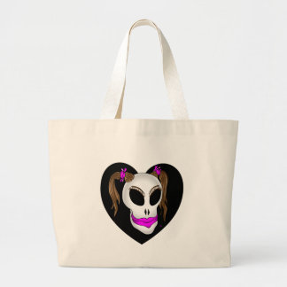 skull beauty-1 tote bag