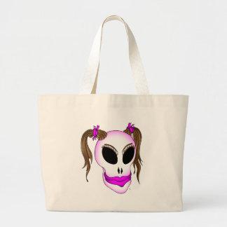 skull beauty-1 jumbo tote bag