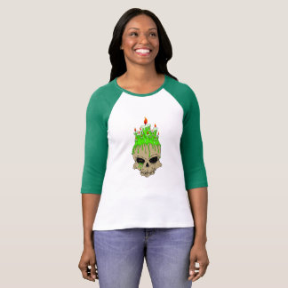 Skull Bella+Canvas 3/4 Sleeve Raglan T-Shirt