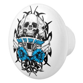 Skull Biker Tattoo Design Dresser Drawer Knob Pull