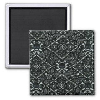 Skull Black Bandana Print Fridge Magnet