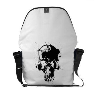 Skull Black Messenger Bags