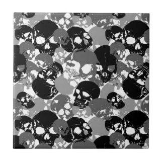 Skull Black&White Tile