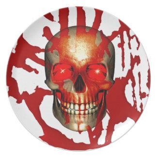Skull & Blood Plate