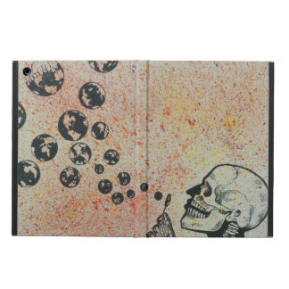 skull blowing earth iPad air cover
