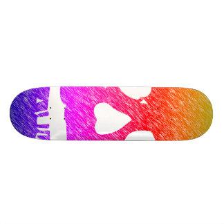 Skull Board 21.6 Cm Old School Skateboard Deck