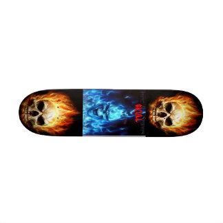 skull board skate board deck