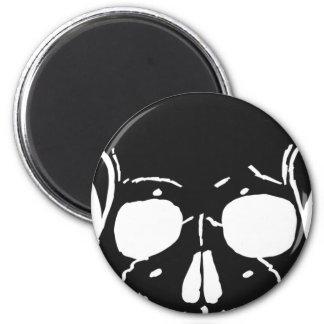 Skull Bone Bones Skeleton Skeletal Creepy Spooky Magnet