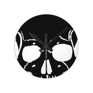 Skull Bone Bones Skeleton Skeletal Creepy Spooky Round Clock
