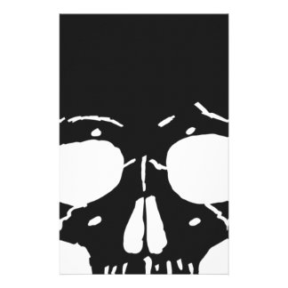Skull Bone Bones Skeleton Skeletal Creepy Spooky Stationery