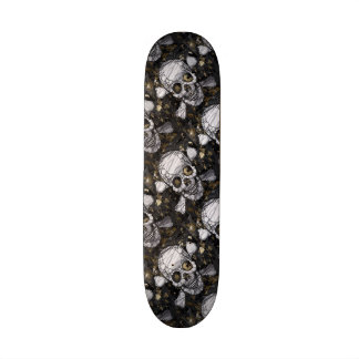 Skull&Bones Grunge&Metal Texture Mini Boards 21.6 Cm Old School Skateboard Deck