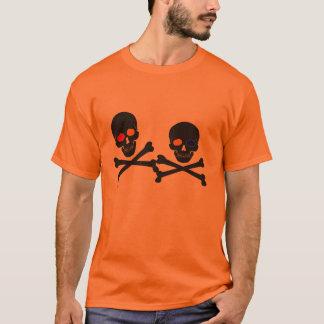 skull & bones halloween colors ghost shirt design