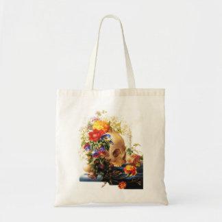 Skull Bouquet Tote Bag