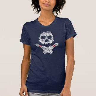 Skull & Bowling Pins T Shirts