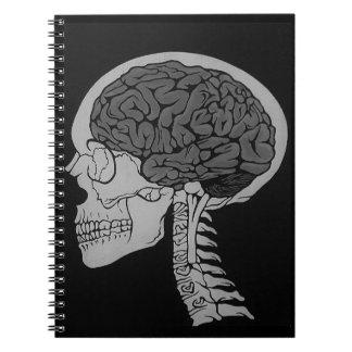 Skull Brain Zombie Skeleton Gothic Goth Dark Notebook