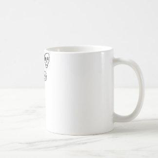 skull bubbles basic white mug