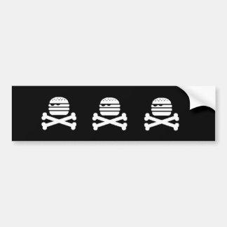 Skull Burger Bumper Bumper Sticker