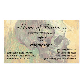 Skull by Vincent van Gogh Business Card Template