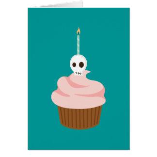 Skull Cake Greeting Card