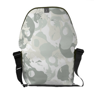 Skull camouflage commuter bags