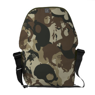 Skull camouflage courier bag