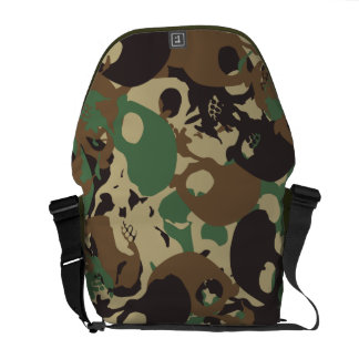 Skull camouflage courier bags