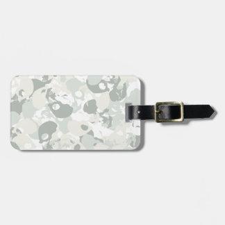 Skull camouflage luggage tag