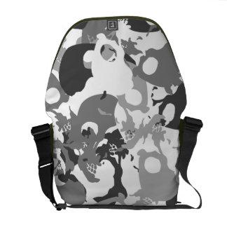 Skull camouflage messenger bag