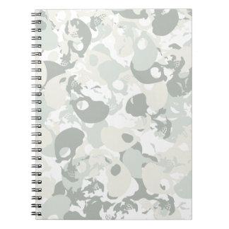 Skull camouflage spiral notebook