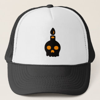 Skull Candle – Orange Trucker Hat