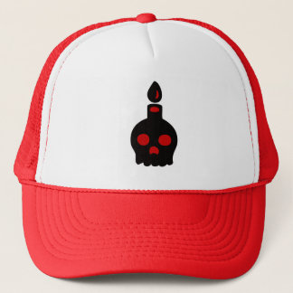 Skull Candle – Red Trucker Hat