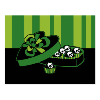 Skull Candy Box Postcard
