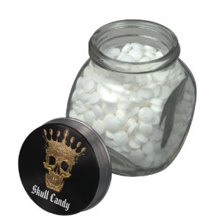 Skull Candy Jelly Belly Candy Jar