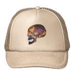 skull cap trucker hat